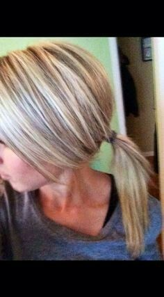 Ash blonde with low lights