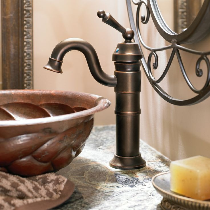 waterhill oil rubbed bronze onehandle high arc bathroom faucet - Bronze Bathroom Faucet