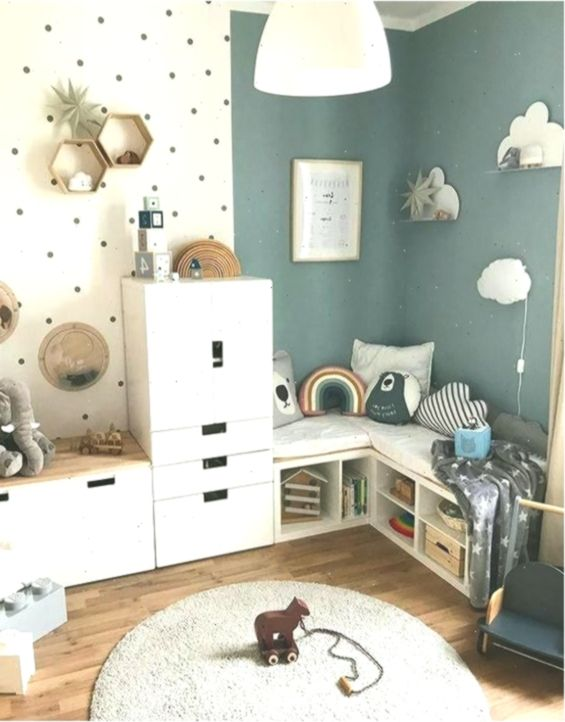 Kinderzimmer; Haus Dekoration; Kleiner Raum; Wandgemälde