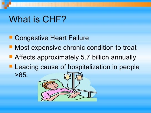 ... emergency department; 12. What is CHF?