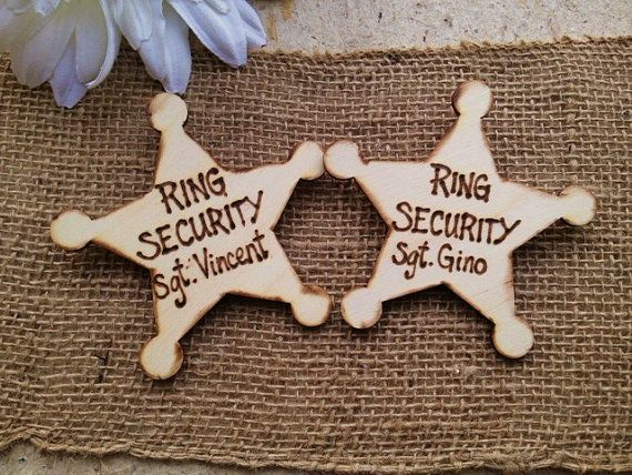 Ring Security Sheriff Badge Personalized with door PrinceWhitaker, $20.99