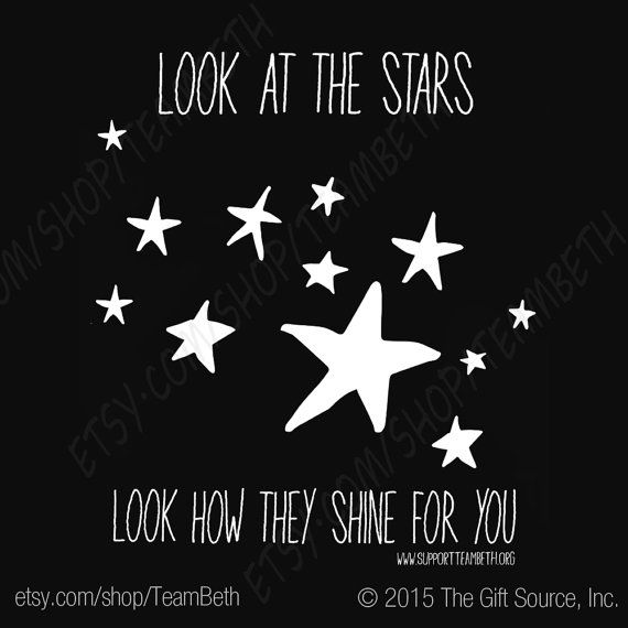 Look at the Stars Coldplay Lyrics Brain Cancer by TeamBeth on Etsy