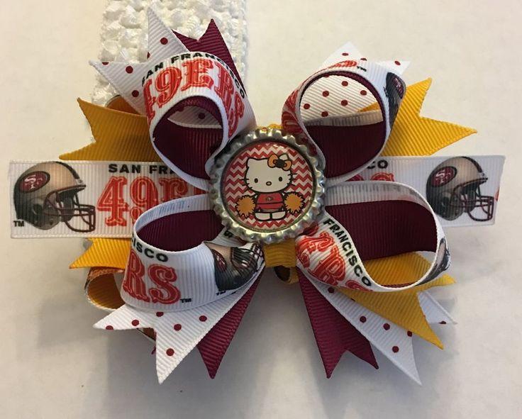 San Francisco 49ers Cheerleader Inspired Bottle Cap Hair Bow 49ers Womans Girls    Sports Mem, Cards & Fan Shop, Fan Apparel & Souvenirs, Football-NFL   eBay!