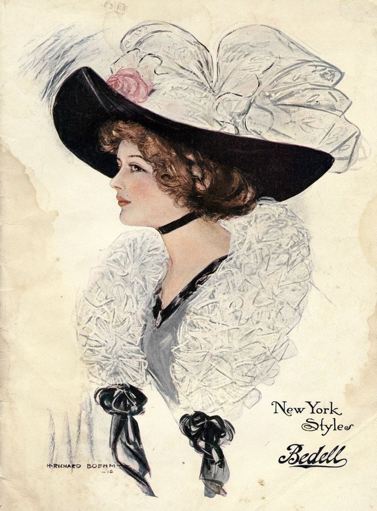 Hat Fashions from the Cover of the 1910 Spring and Summer Bedell's Catalogue ~ Clearly Vintage
