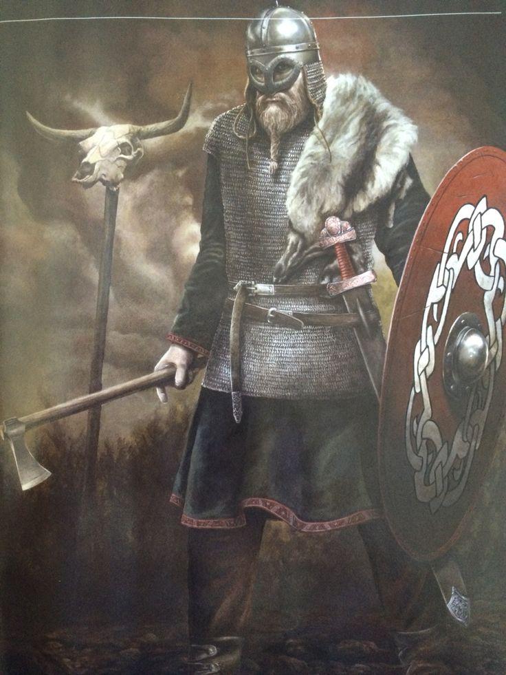 Viking chieftain from Gjermundbu, Norway.