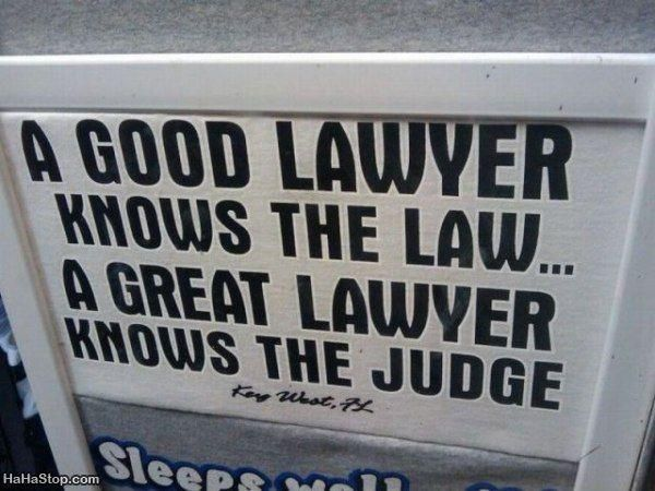 What is the difference between a good   lawyer and a great lawyer? | http://jokideo.com/a-good-lawyer-knows-the-law/