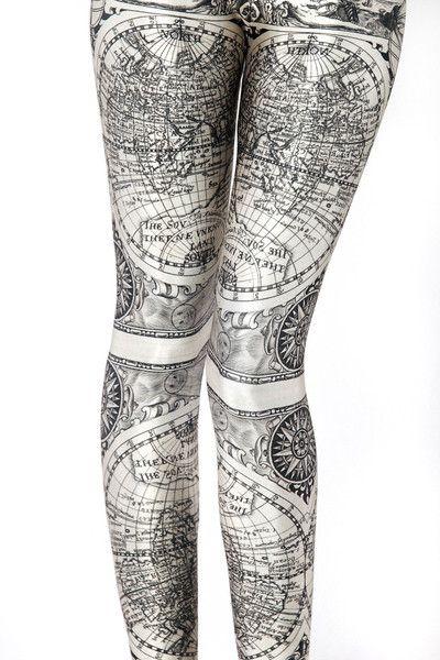 Ancient Maps Leggings.