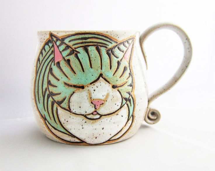 Cat Mug, pottery mug, great Mothers Day gift, cat loaf mug, handmade , custom name mugs, personalized mug, name mug, personalized gift, by SusanAltenauPottery on Etsy https://www.etsy.com/listing/235439819/cat-mug-pottery-mug-great-mothers-day