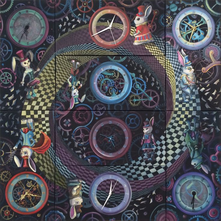 Cycle of time - time - rabbits - clockwork - steampunk - art