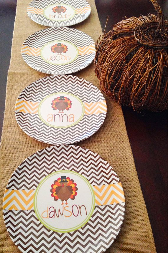 Thanksgiving Turkey Melamine Tableware  Personalized