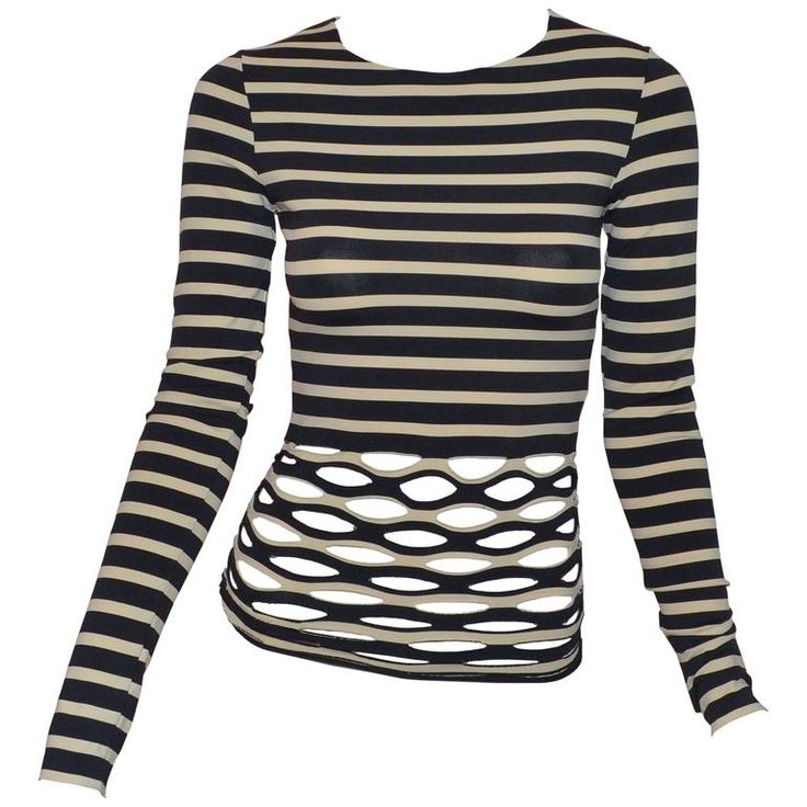 Jean Paul Gaultier Soleil Stripe Caged Top