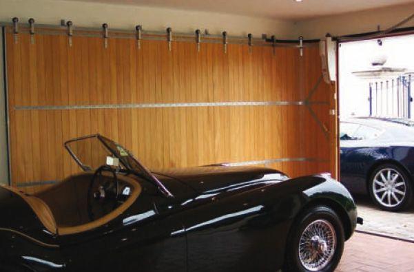 Wood side roll garage door pinterest