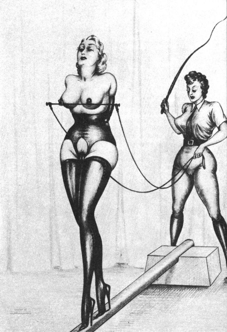 Female domination bondage drawings #13