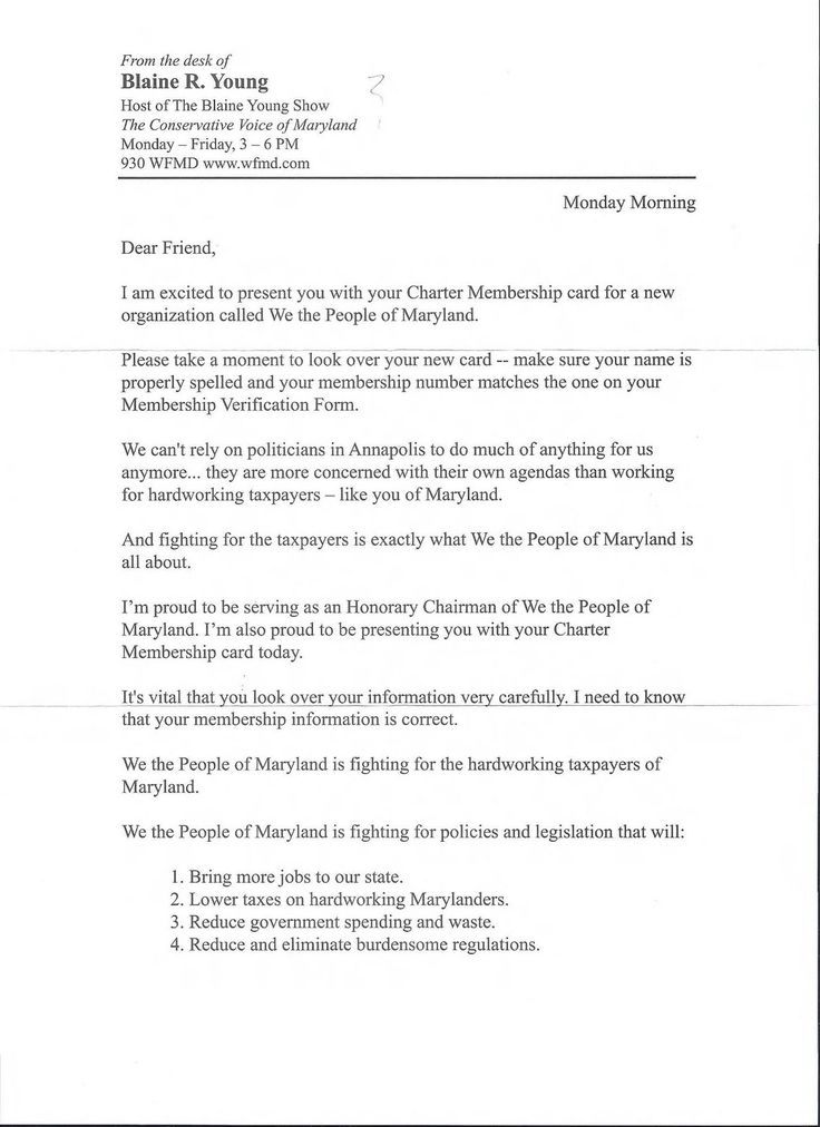Political Campaign Letter Templates