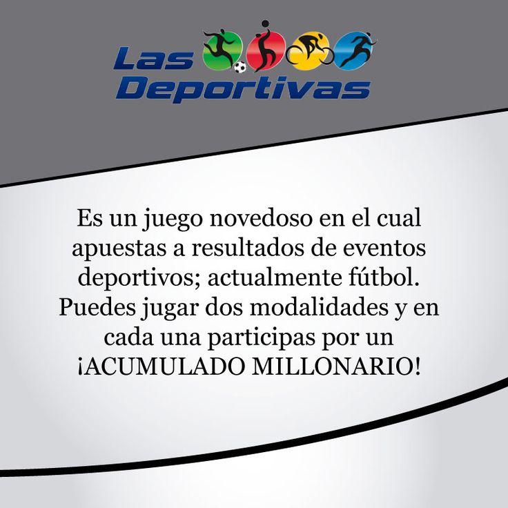 Con #lasdeportivas sólo tienes que marcar tus pronósticos y entregarlos a la asesora en el punto de ventas. #juegoresponsable #energiapositiva http://www.lasdeportivas.com.co/
