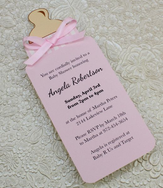 Baby Bottle Girl Shower Invitation Template Bun In The Oven All