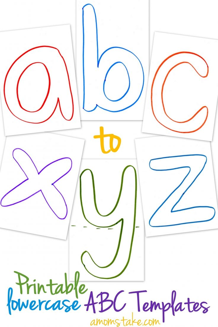 printable alphabet book template - lowercase abc templates free printable templates