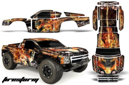 Chevy Silverado 1500-PRO LINE-Traxxas Slash-PRO3307-60-AMRRACING-RC Graphics Kit-FIRESTORM by AMRRACING. $39.95. 98% Body coverage. Listing includes graphics kit only, body not included.. AMR RC Kits very Easy to install.. Graphics kit it new in sealed manufactures packing.. AMR Racing RC kits are made from Thick Motocross quality vinyl. AMR Racing RC kits are made from Thick Motocross quality vinyl. Please don't confuse these with cheap, paper thin kits manufactured b...