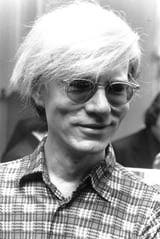 Pop artist Andy Warhol.