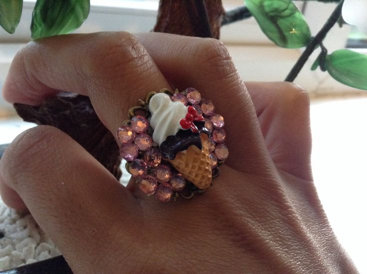A personal favourite from my Etsy shop https://www.etsy.com/uk/listing/252156318/ice-cream-and-gemstone-ring