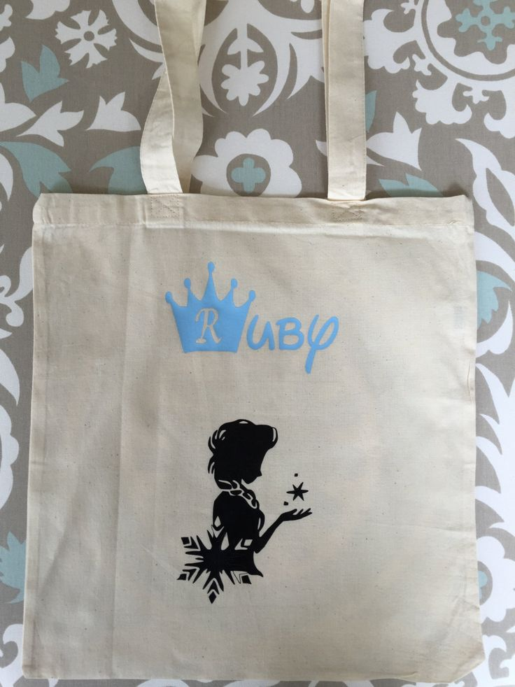 Personalized Frozen Bag, Halloween, All occasions, Girl, Tote bag, Frozen, Candy Bag, School Bag, Name, Kids bag by MeggieLousDesigns on Etsy