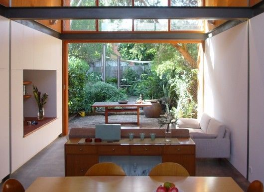 #home #decor #livingroom: Living Rooms, House Ideas, Beautiful Spaces Beautiful, Indoor Outdoor, Courtyard House, Design Blogs, Outdoor Design, Garden, Newtown Residence