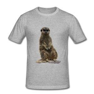 surikat T-skjorter - Slim Fit T-skjorte for menn