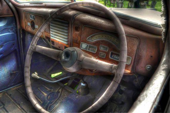 Car Interior by Photofusion on Etsy, $35.00