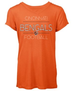 5th & Ocean Women's Cincinnati Bengals Rayon V T-Shirt - Orange M