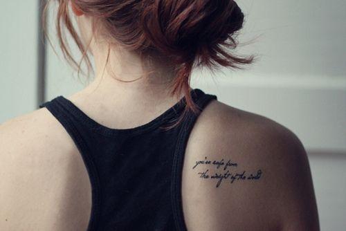 I want a shoulderblade tattoo so bad.