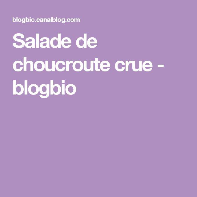 Salade de choucroute crue - blogbio