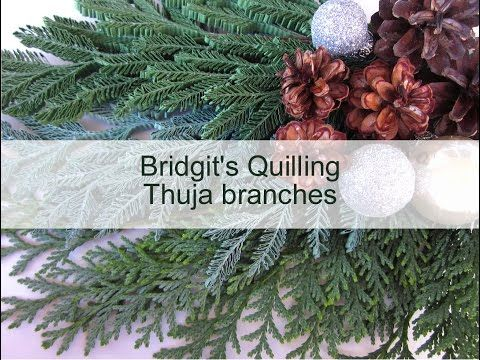 (5) Bridgit's Quilling Thuja branches (with new Quilling Zigzag -Technique - Video 5) - YouTube