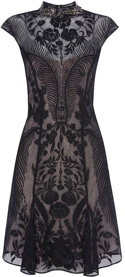 Karen Millen bead embellished lace dress (£235) For more fashion and wedding inspiration visit www.finditforweddings.com Black evening dress