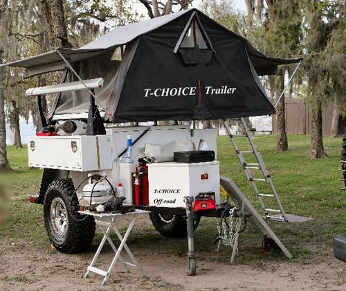 Camping Trailers: Looks Like The Ultimate ATV Camping Tent Trailer.