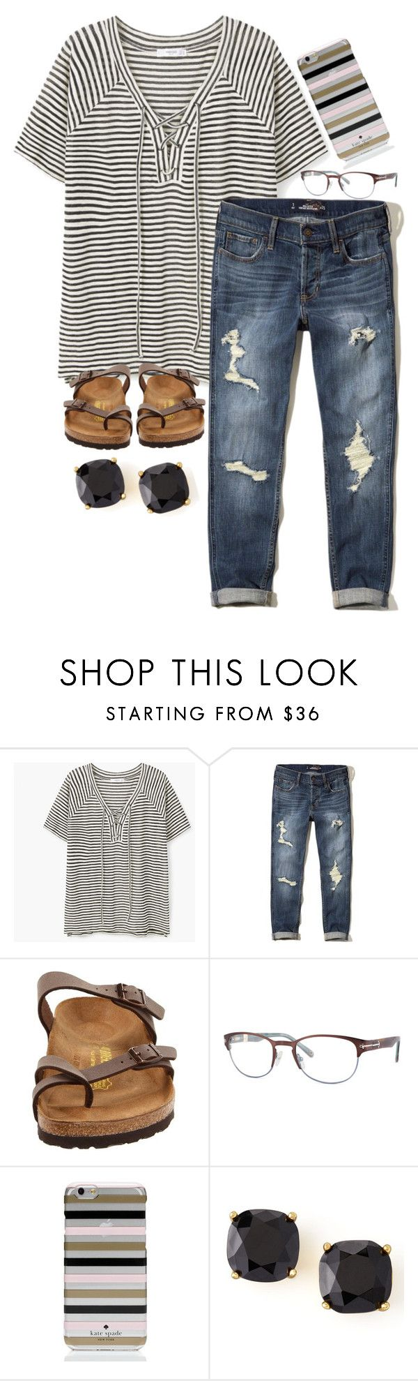 """follow up on your promises"" by legitimately-kierstin ❤ liked on Polyvore featuring MANGO, Hollister Co., Birkenstock, Sperry and Kate Spade"