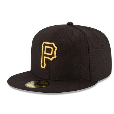 Pittsburgh Pirates New Era Game Diamond Era 59FIFTY Fitted Hat - Black