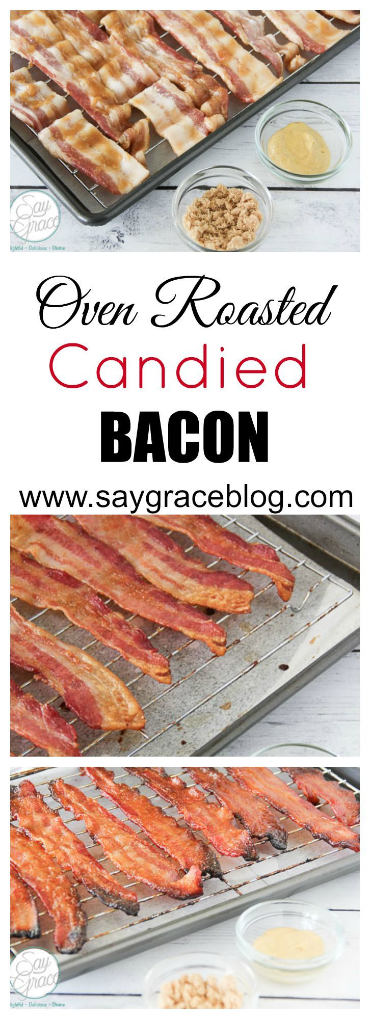This thick cut bacon roasted in brown sugar will take your taste buds over the top with yummy goodness!