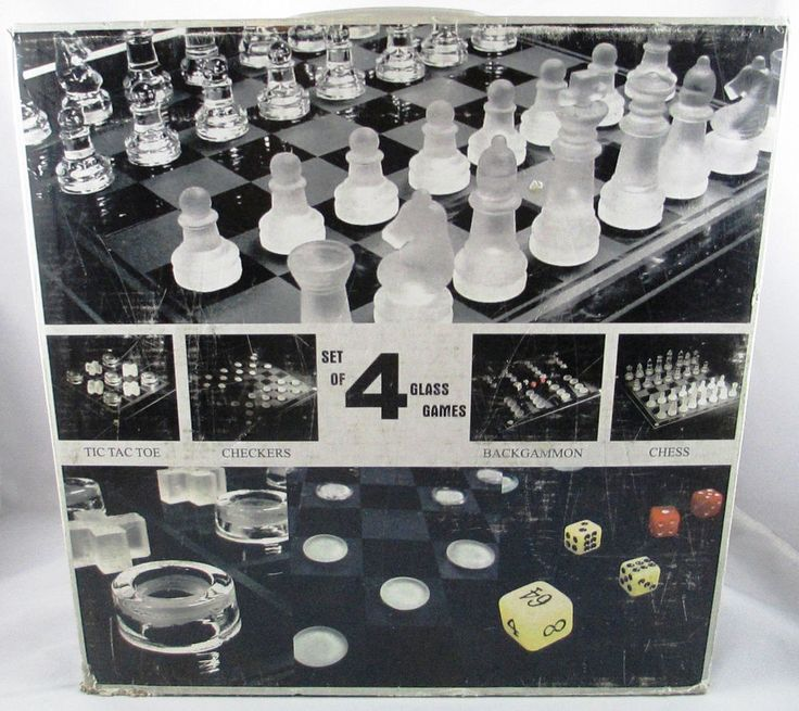 Set of 4 Games Glass Board & Pieces Tic Tac Toe Checkers Backgammon Chess #Unbranded  ..... Visit all of our online locations..... www.stores.ebay.com/ourfamilygeneralstore ..... www.bonanza.com/booths/Family_General_Store ..... www.facebook.com/OurFamilyGeneralStore