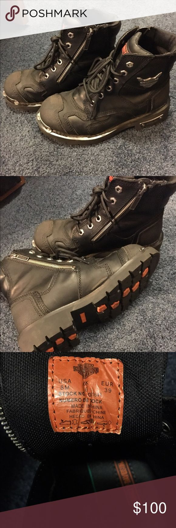 Harley Boots Women's Harley Boots size 8 only worn twice. Just to big for me. I'm great shape! Harley-Davidson Shoes Ankle Boots & Booties