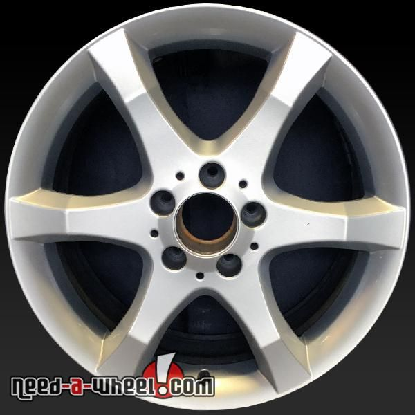 "2007 Mercedes C230 oem wheels for sale. 17"" Silver stock rims 65436 http://www.need-a-wheel.com/rim-shop/17-mercedes-c230-oem-wheels-rims-silver-65436/ , #oemwheels, #factorywheels"