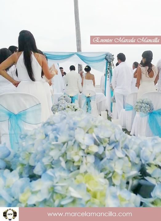 Beach Wedding Event http://marcelamancilla.com
