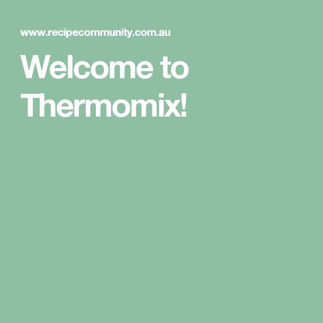 Welcome to Thermomix!