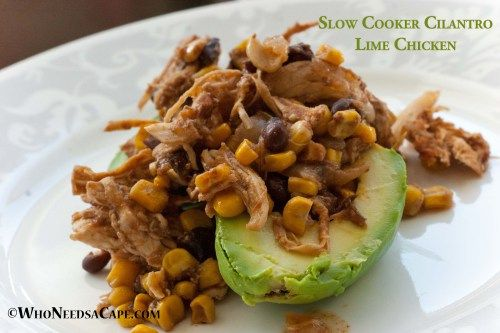 Slow Cooker Cilantro Lime Chicken  - picture looks unappetizing, but the ingredients look yummy