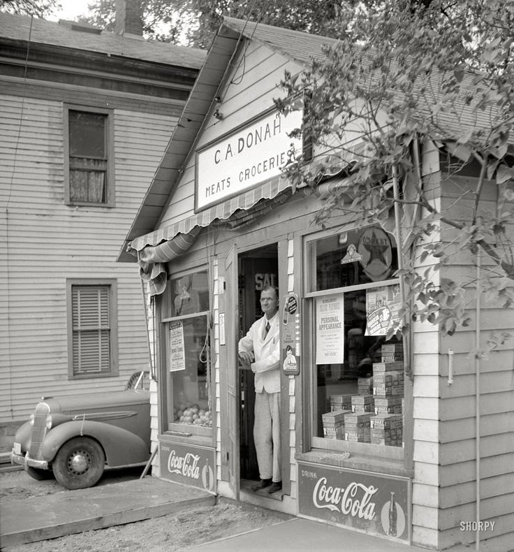 """Small Business: July 1940. """"General store in Lincoln, Vermont."""" Medium-format nitrate negative by Louise Rosskam for the Resettlement Administration. Click to view full size."""