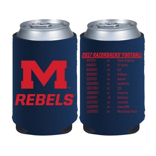 Kolder Kaddy University of Mississippi 2017 Football Schedule 12 oz Can Insulator (Navy, Size ) - NCAA Licensed Product, NCAA Novelty at Academy Sp...