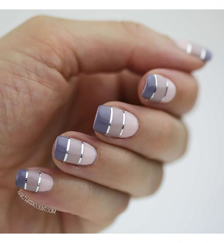 Squoval Nails : nail art dégradé. Beautiful and classy nail art for your cocktail party or business conference :) #theclassything #theything
