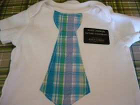 Small Fry & Co. : Tie onesies with a missionary name tag