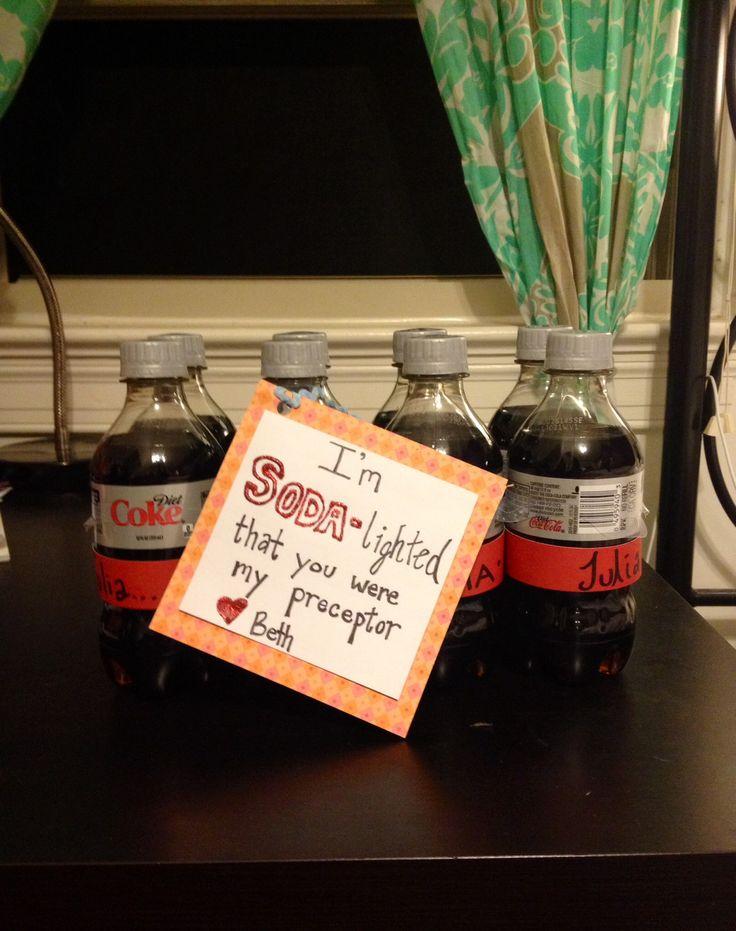 Soda-lighted nurse preceptor gift. Coke bottle names #nursing #gift