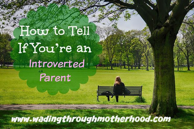 Wading Through Motherhood: How to Tell If You're an #Introverted Parent