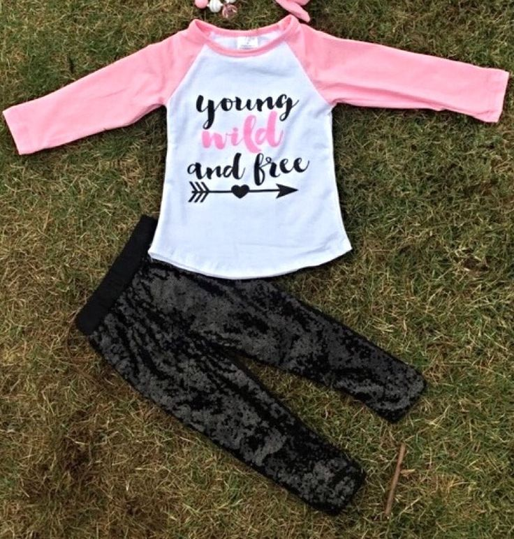 The Young Wild & Free girls pink & black sequin boutique outfit is high quality and so trendy. A beautiful addition to her winter or spring wardrobe. Cute fit Valentine's Day too!     Accessories Sold Separately. Shop Our Store.     >Cotton/Spandex    >TRUE TO SIZE      Order the size she normally wears everyday.     (If unsure, we recommend ordering one size up)     >We will ship stock in 1-2 days. | Shop this product here: spreesy.com/cutekidsclothingcompany/714 | Shop all of our products…